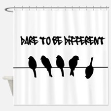 Dare to be Different Birds on a wire Shower Curtai