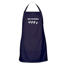 Dare to be Different Birds on a wire Apron (dark)