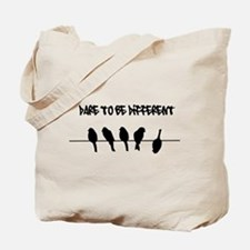 Dare to be Different Birds on a wire Tote Bag