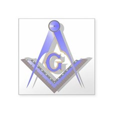 Masonic Square and Compass Square Sticker 3""