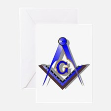 Masonic Square and Compass Greeting Cards (Pk of 1