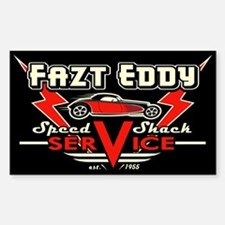 Fazt Eddy Speed Shack Service Decal