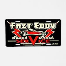 Fazt Eddy Speed Shack Service Aluminum License Pla