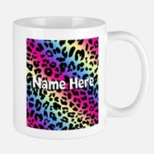 Personalized Rainbow Leopard Mug