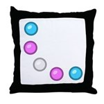 Trans Baubles Throw Pillow