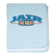 The Great Jair baby blanket