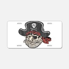 Throwback Pirate Aluminum License Plate