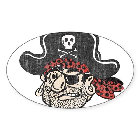 Throwback Pirate Sticker