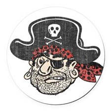 Throwback Pirate Round Car Magnet