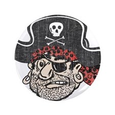 """Throwback Pirate 3.5"""" Button (100 pack)"""