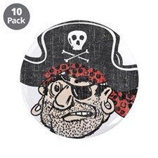 "Throwback Pirate 3.5"" Button (10 pack)"