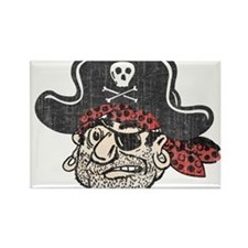 Throwback Pirate Rectangle Magnet (100 pack)