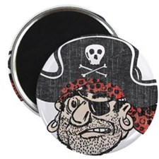"Throwback Pirate 2.25"" Magnet (100 pack)"