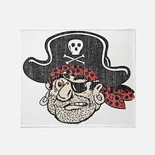 Throwback Pirate Throw Blanket