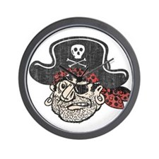 Throwback Pirate Wall Clock
