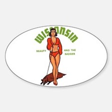 Vintage Wisconsin Pinup Decal