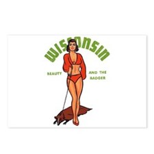 Vintage Wisconsin Pinup Postcards (Package of 8)