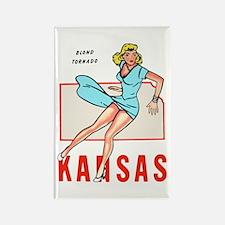 Vintage Kansas Pinup Rectangle Magnet