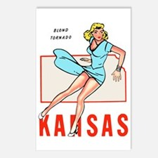 Vintage Kansas Pinup Postcards (Package of 8)