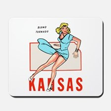 Vintage Kansas Pinup Mousepad