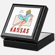 Vintage Kansas Pinup Keepsake Box