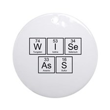 Wise Ass Ornament (Round)