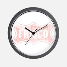 Faded Frisco Wall Clock