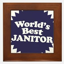 Worlds Best Janitor Framed Tile