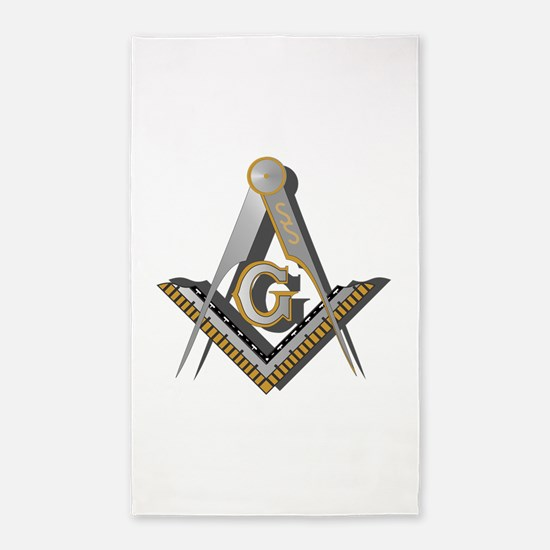 Masonic Square and Compass 3'x5' Area Rug