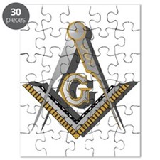 Masonic Square And Compass Puzzle