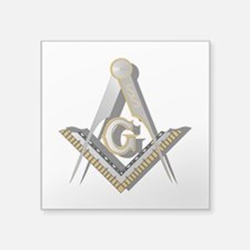 "Masonic Square and Compass Square Sticker 3"" x 3"""