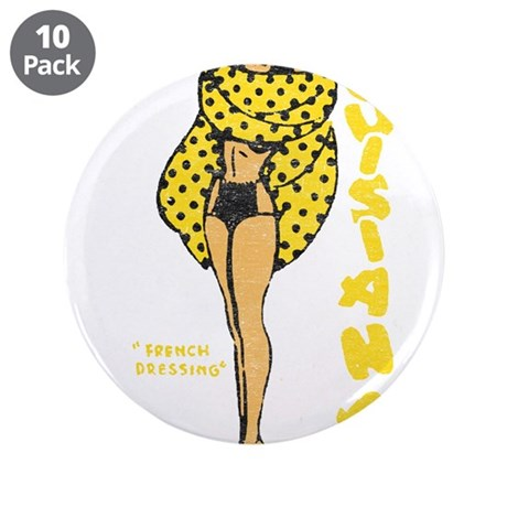 """Vintage Louisiana Pinup 3.5"""" Button (10 pack)"""
