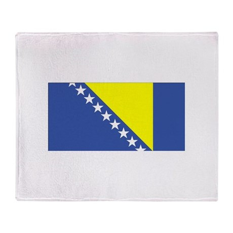 Bosnia and Herzegovina Flag Throw Blanket