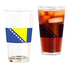 Bosnia and Herzegovina Flag Drinking Glass