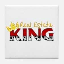 Real Estate King Tile Coaster