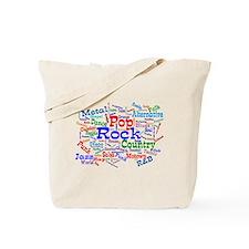 Music Cloud Tote Bag