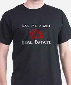 Real Estate Black T-Shirt