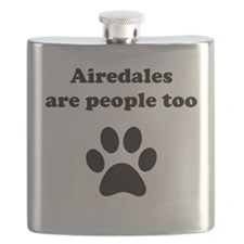 Airedales Are People Too Flask