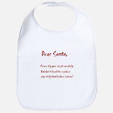 Dear Santa Fly Carefully Bib