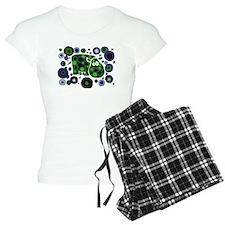 Funky Hippo Art and Circles Pajamas