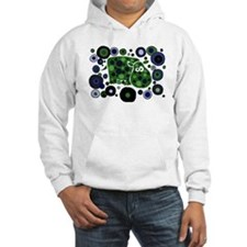 Funky Hippo Art and Circles Hoodie