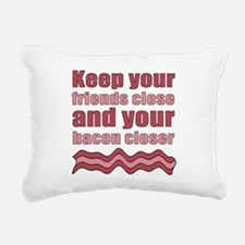 Bacon Humor Saying Rectangular Canvas Pillow