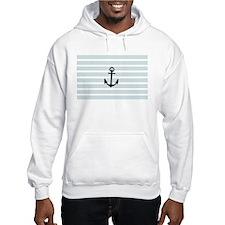 Anchor and Beach Hut Blue Stripes Hoodie