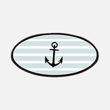Anchor and Beach Hut Blue Stripes Patches
