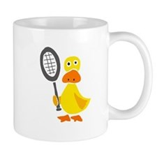 Primitive Duck Playing Tennis Mug