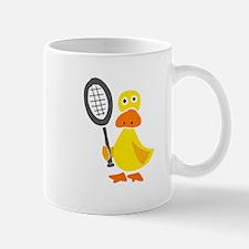 Primitive Duck Playing Tennis Mug