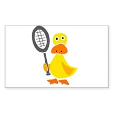Primitive Duck Playing Tennis Decal