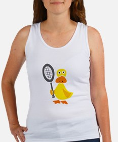 Primitive Duck Playing Tennis Tank Top