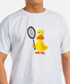 Primitive Duck Playing Tennis T-Shirt