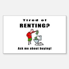 RENTING? Rectangle Decal